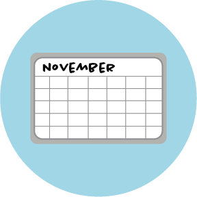 whiteboard calendar icon