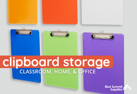Clipboard Storage Guide for the Classroom, Home, and Office