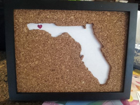 cut corkboard art