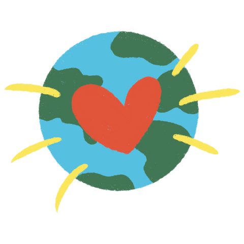 Earth with Heart Illustration