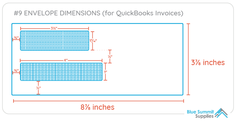 What size envelopes for Quickbooks invoices?