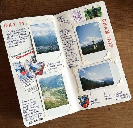 A page for each day travel journal