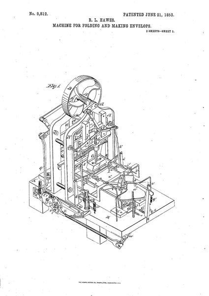 History of Envelopes: R. L. Hawes' Envelope Making Machine
