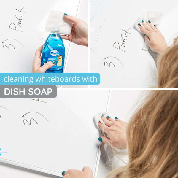 How to clean whiteboards with dish soap