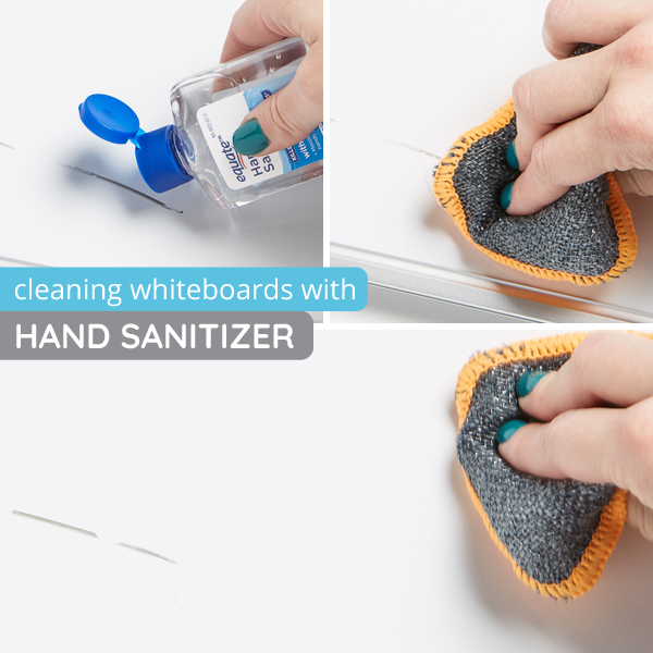 How to clean whiteboards with hand sanitizer