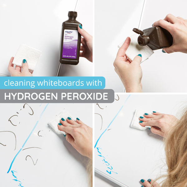 How to clean whiteboards with hydrogen peroxide