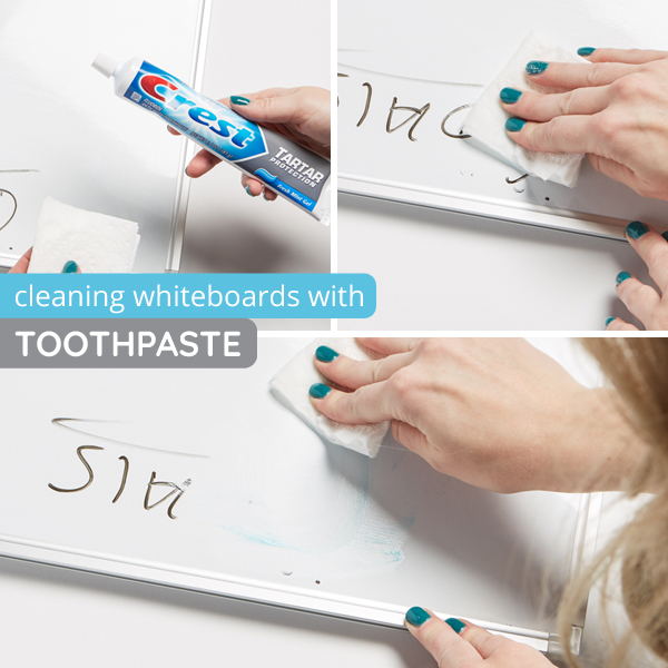 How to clean whiteboards with toothpaste