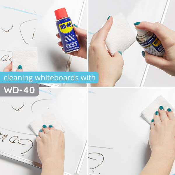 How to clean whiteboards with WD40