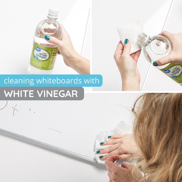 How to clean whiteboards with white vinegar