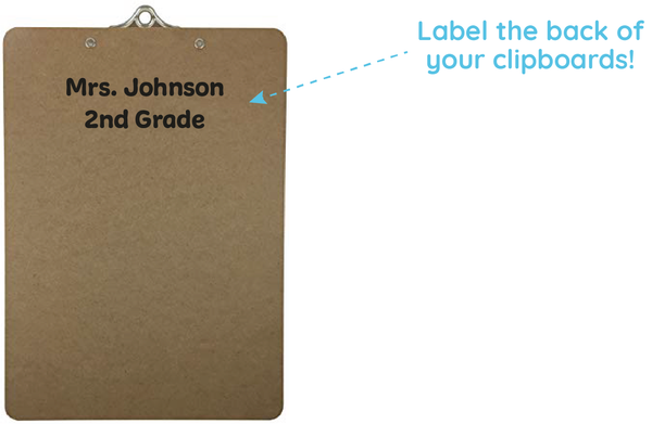 label clipboards