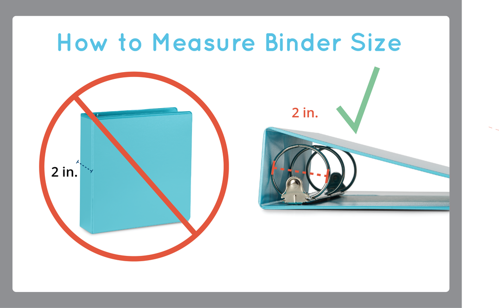 how to measure binder size diagram