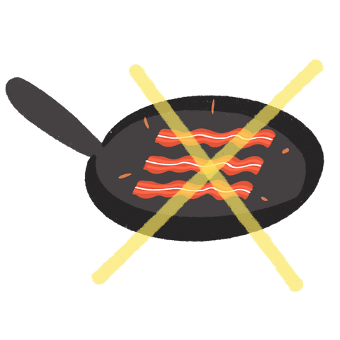 Crossed out Bacon Illustration