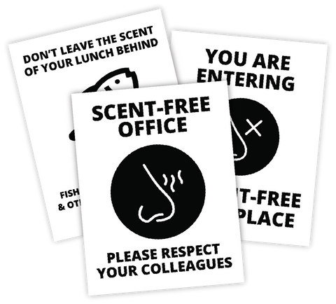 Fragrance-Free Office signs