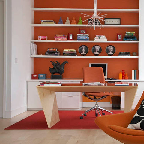 Orange color psychology in the workplace