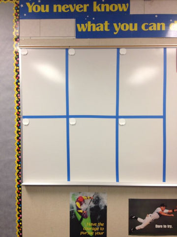 painters tape whiteboard