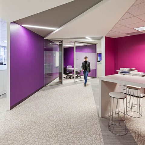 Purple color psychology in the workplace
