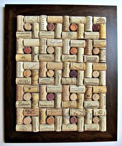 real cork corkboard art