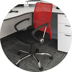 Red office chair accent