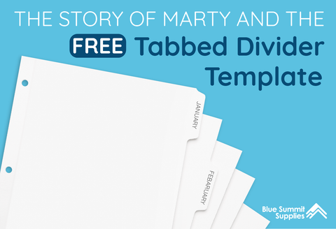 graphic relating to Printable Divider Tabs referred to as Do-it-yourself Binder Dividers: Absolutely free Printable Templates - Blue Summit