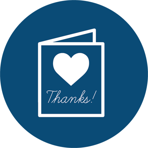buying thank you card