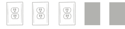 three outlet