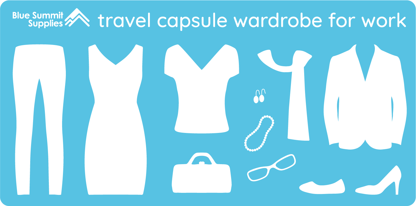 Travel capsule wardrobe for work