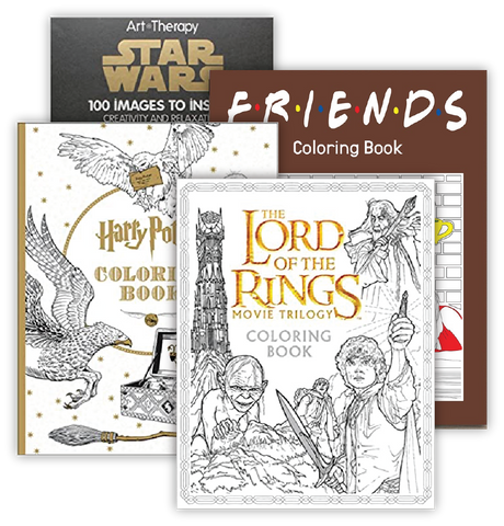 tv and movie coloring books