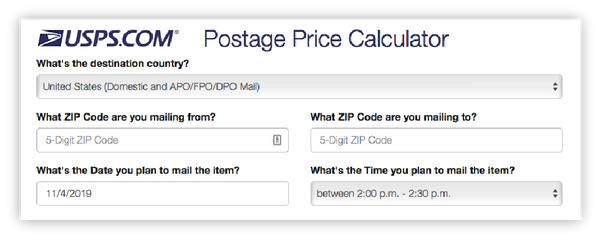 usps shipping calculator