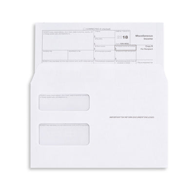 1099 MISC Tax Form Envelopes, Gummed Seal, 50 Count