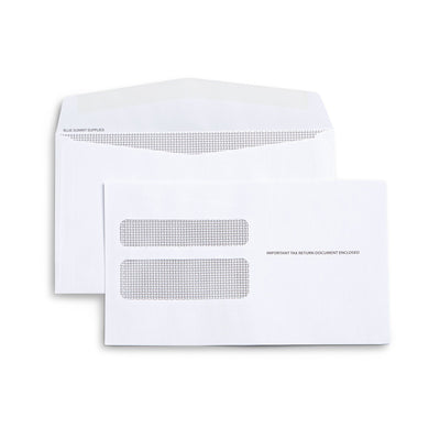 W2 Tax Form Envelopes, Gummed Seal, 500 Count