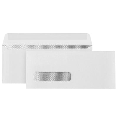 #9 Single Window Security Envelopes, Gummed Seal, 500 Count