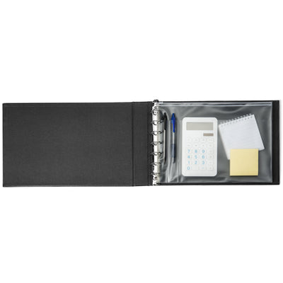 Two Pocket Folders with Prongs, Black, 25 Pack