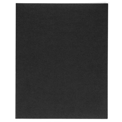 Two Pocket Folders with Prongs, Black, 25 Pack Folders Blue Summit Supplies