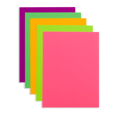 Neon Poster Board, 9 x 12 Inch, 50 Pack Poster Board Blue Summit Supplies