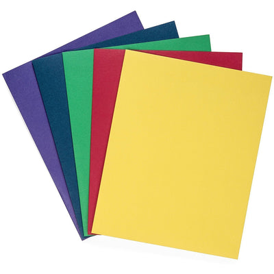 Two Pocket Folders, Assorted Colors, 50 Pack Folders Blue Summit Supplies