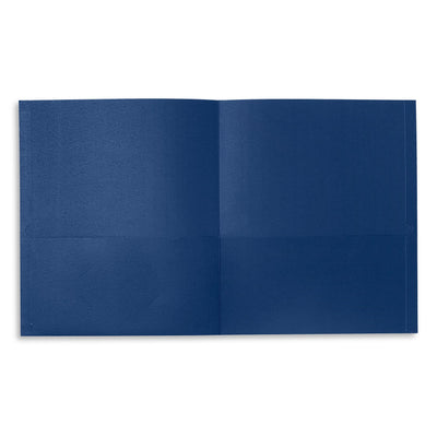 Two Pocket Folders, Assorted Colors, 25 Pack Folders Blue Summit Supplies