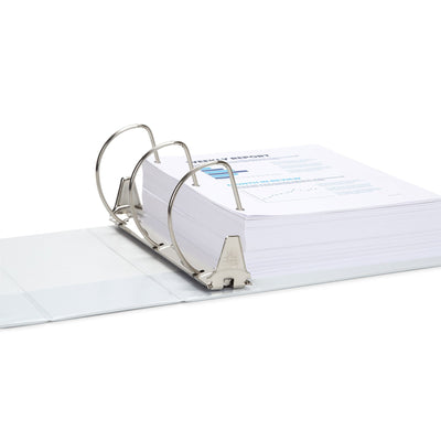 "5"" 3-Ring Binder, White binders Blue Summit Supplies"