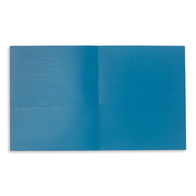 Two Pocket Folders, Blue, 25 Pack Folders Blue Summit Supplies