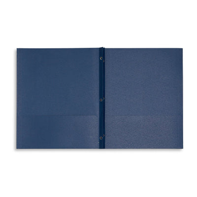 Two Pocket Folders with Prongs, Dark Blue, 25 Pack Folders Blue Summit Supplies