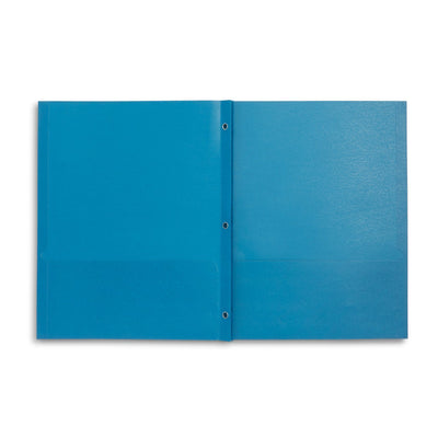 Two Pocket Folders with Prongs, Light Blue, 25 Pack Folders Blue Summit Supplies