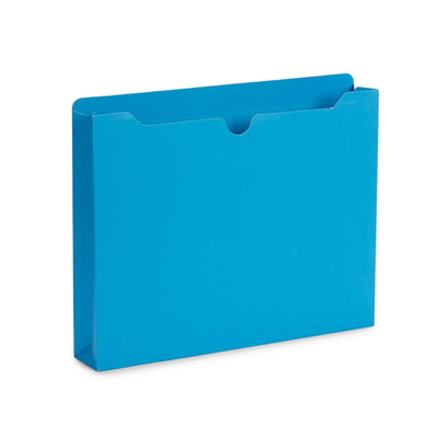 "2"" Expanding File Jacket, Letter Size, Assorted Colors, 25 Pack Folders Blue Summit Supplies"