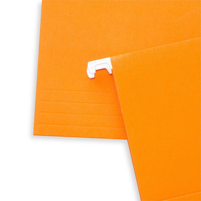 Hanging File Folders, Letter Size, Orange, 25 Pack Folders Blue Summit Supplies