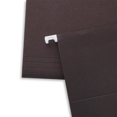 Hanging File Folders, Letter Size, Black, 25 Pack Folders Blue Summit Supplies