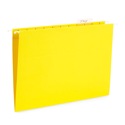 Hanging File Folders, Letter Size, Yellow, 25 Pack
