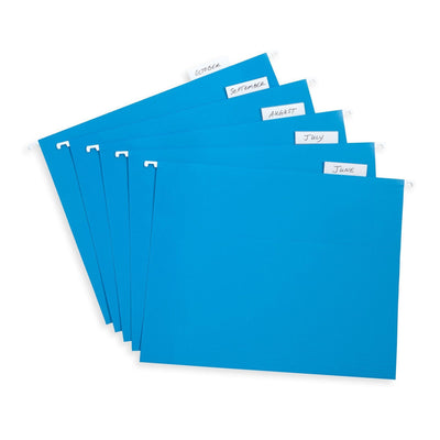 Hanging File Folders, Letter Size, Blue, 25 Pack Folders Blue Summit Supplies