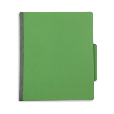Classification Folders with 2 Dividers, Letter Size, Green, 10 Count Folders Blue Summit Supplies