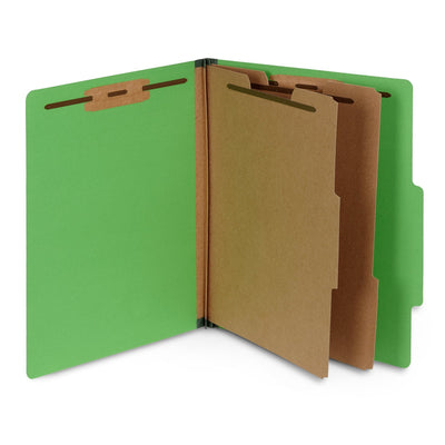 Green Classification Folders, 10 Count