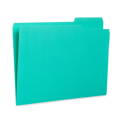 File Folders, Letter Size, Assorted Gem Tone Colors, 100 Pack Folders Blue Summit Supplies