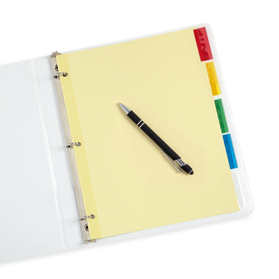 Tabbed Binder Dividers, 1/5 Cut Plastic Tabs, Colored, 6 Sets Binder Dividers Blue Summit Supplies