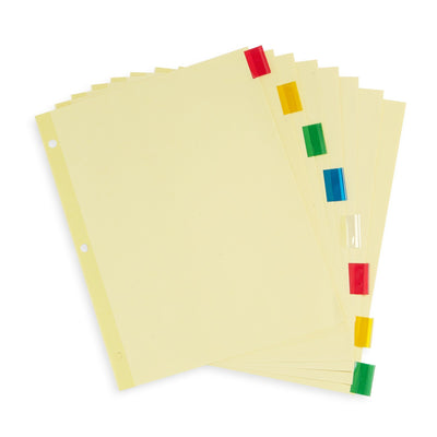 Tabbed Binder Dividers, 1/8 Cut Plastic Tabs, Colored, 48 Sets Binder Dividers Blue Summit Supplies